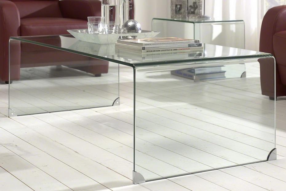 Afbeeldingen   Glazen salontafel